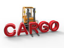 Forklift cargo concept Royalty Free Stock Image