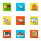 delivery and transportation related icon set Royalty Free Stock Photos