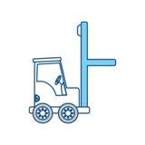 Forklift cargo vehicle Royalty Free Stock Photos