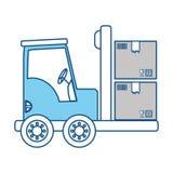 Forklift cargo vehicle Stock Image