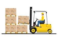 Forklift ciężarówka Zdjęcia Stock
