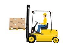 Forklift ciężarówka Zdjęcie Stock