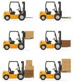 Forklift ciężarówki wektoru ilustracja Obraz Stock