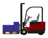Forklift com caixas Fotos de Stock Royalty Free