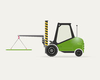Forklift with crane Royalty Free Stock Image