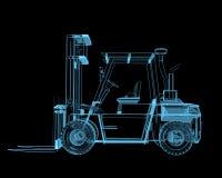 Forklift crane royalty free illustration