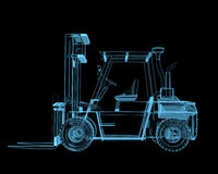 Forklift crane Royalty Free Stock Photo
