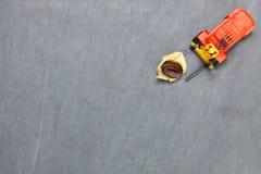 Forklift dźwignięcia kawowej fasoli scena Fotografia Royalty Free