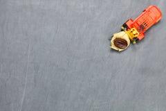 Forklift dźwignięcia kawowej fasoli scena Zdjęcie Stock