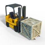 Forklift. 3D CG rendering of a forklift Royalty Free Stock Photos