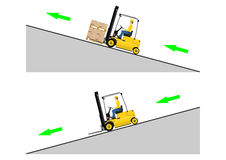Forklift dangers Royalty Free Stock Photo