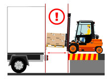 Forklift dangers Royalty Free Stock Images
