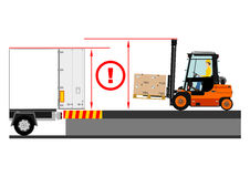 Forklift dangers Stock Photo