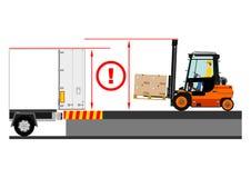 Forklift dangers Stock Photo