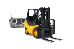 Forklift do controle de rádio Imagens de Stock Royalty Free