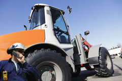 Forklift and driver Stock Image