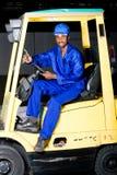 Forklift driver Stock Images