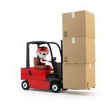 Forklift driver with the cargo Stock Photography
