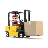 Forklift driver with the cargo Stock Photo