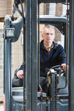 Forklift driver Royalty Free Stock Image