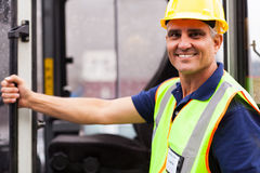 Forklift driver portrait Stock Images