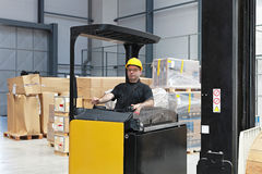 Forklift driver Stock Photo