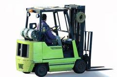 Forklift e operador Fotos de Stock