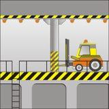 Forklift elétrico ilustração do vetor