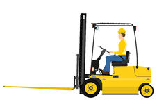 Forklift with extensions Stock Photos