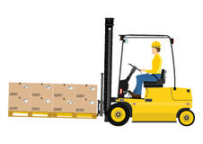 Forklift with extensions Stock Images