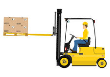 Forklift with extensions Stock Image