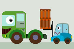 Forklift friend Stock Photography