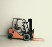 Forklift front Royalty Free Stock Images