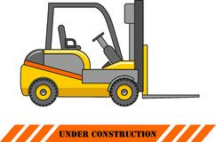 Forklift. Heavy construction machines. Vector Royalty Free Stock Image
