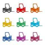 Forklift icon, Forklift truck, color icons set Royalty Free Stock Image