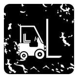 Forklift icon, grunge style Royalty Free Stock Image