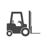Forklift icon. Simple vector icon Stock Photos