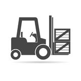 Forklift icon. Simple vector icon Royalty Free Stock Photography