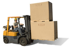 Forklift isolado Fotografia de Stock Royalty Free
