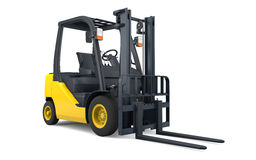 Forklift isolated Stock Images