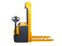 Forklift isolated. Forklift pallet jack isolated included clipping path Stock Images