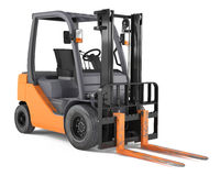 Forklift isolated Royalty Free Stock Images