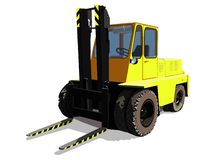 Forklift, isolated vector image royalty free stock photography