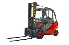 Forklift. Isolated on a white background stock photos