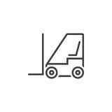 Forklift line icon, lift truck outline  logo illustration, Royalty Free Stock Photo