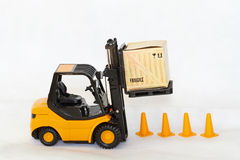 Forklift load Royalty Free Stock Photos