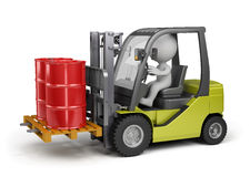 Forklift with a load Stock Photo