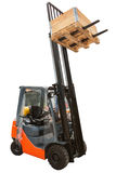 Forklift load with clipping path isolated on white Stock Photo