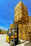 Forklift load Stock Photos