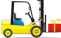 Forklift loader Royalty Free Stock Photo
